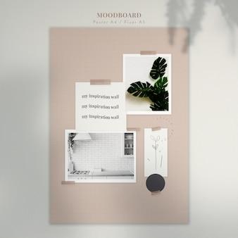 Moodboard z dekoracjami domowymi