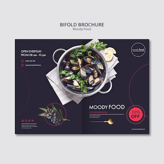 Moody food kreatywny bifold szablon broszura