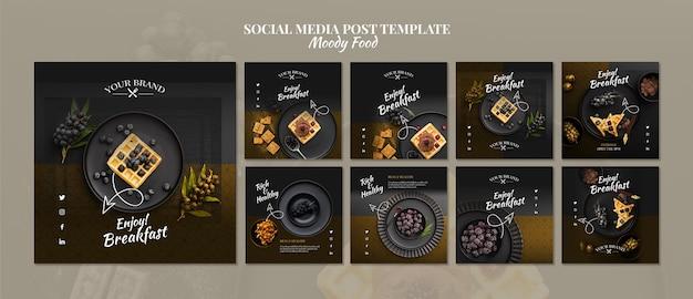 Moody food post w mediach społecznościowych