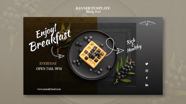Moody food restauracja transparent szablon makieta koncepcji