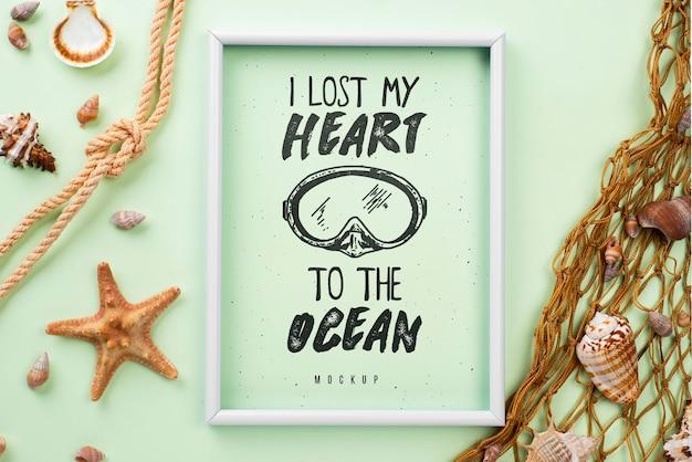 Morskie lato na makiecie klatki