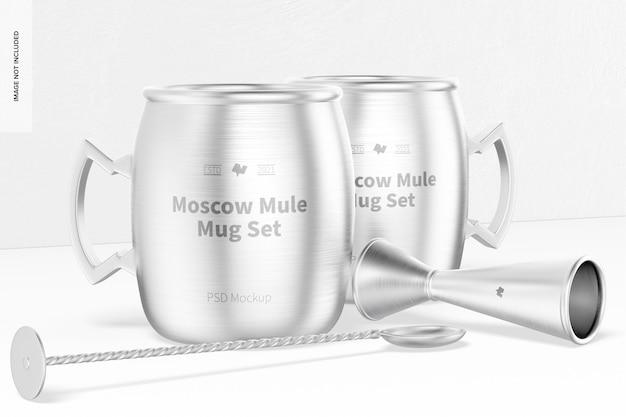 Moskiewski zestaw kubków muł makieta