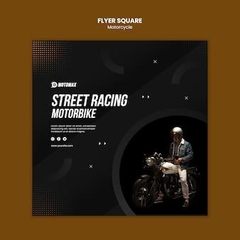 Motocykl wyścigowy street flyer square