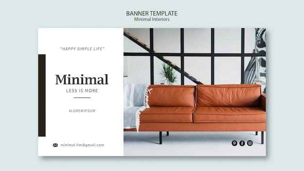 Motyw banera minimalistycznego wnętrza
