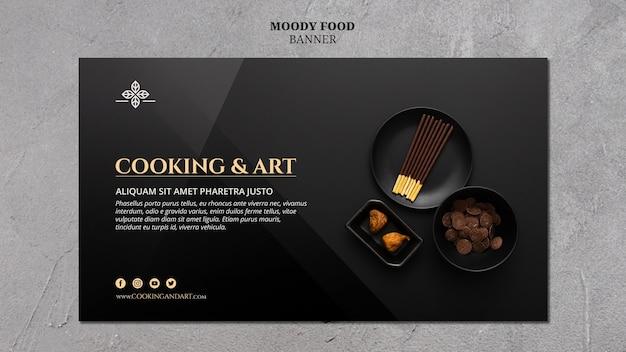 Motyw banner gotowania i sztuki