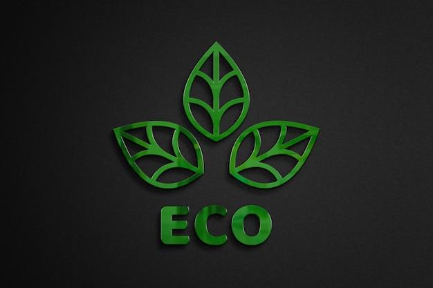 Motyw eko makieta logo 3d