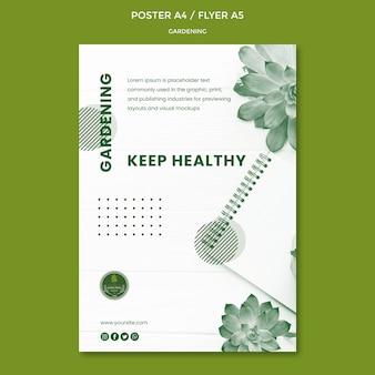 Motyw plakatu ogrodniczego