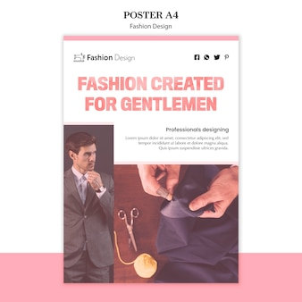 Motyw plakatu projektowania mody