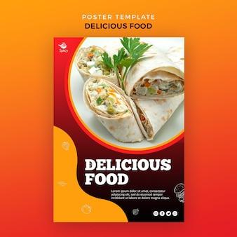 Motyw plakatu pyszne jedzenie
