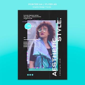 Motyw plakatu trendów projektowania graficznego