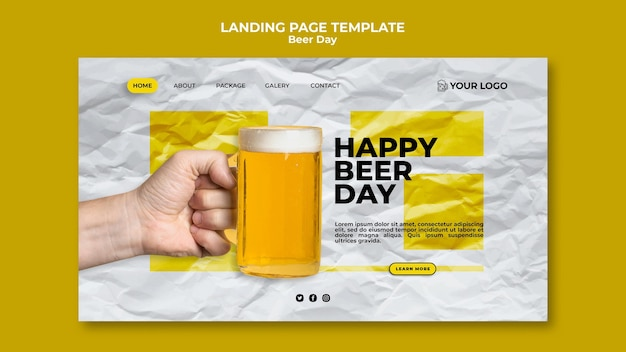 Motyw strony docelowej dnia piwa