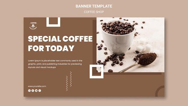 Motyw szablonu banera kawiarni