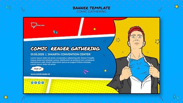 Motyw szablonu banera komiksowego