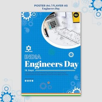 Motyw szablonu plakatu dnia inżyniera