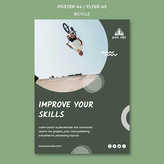Motyw szablonu plakatu rowerowego
