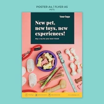 Motyw szablonu plakatu zwierząt domowych