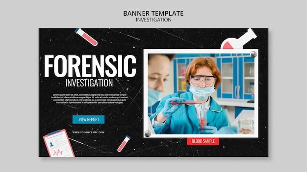 Motyw szablonu transparent dochodzenia