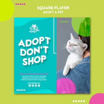 Motyw szablonu ulotki adopcji zwierzaka