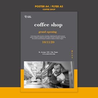 Motyw szablonu ulotki kawiarni