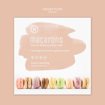 Motyw szablonu ulotki macarons