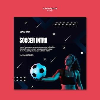 Motyw szablonu ulotki piłka nożna