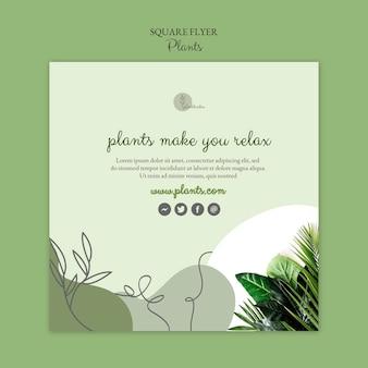 Motyw szablonu ulotki roślin