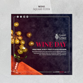 Motyw szablonu ulotki z winem