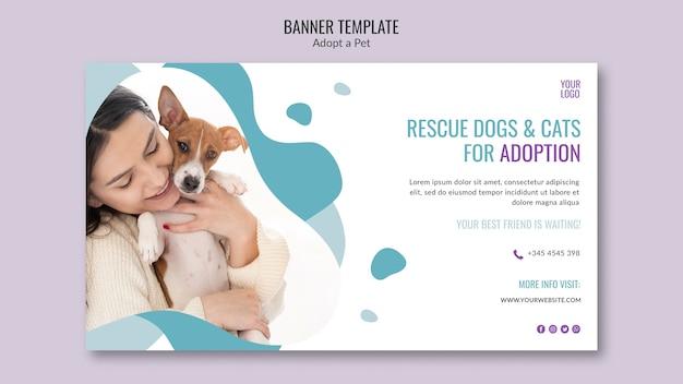 Motyw transparentu z adopcją zwierzaka