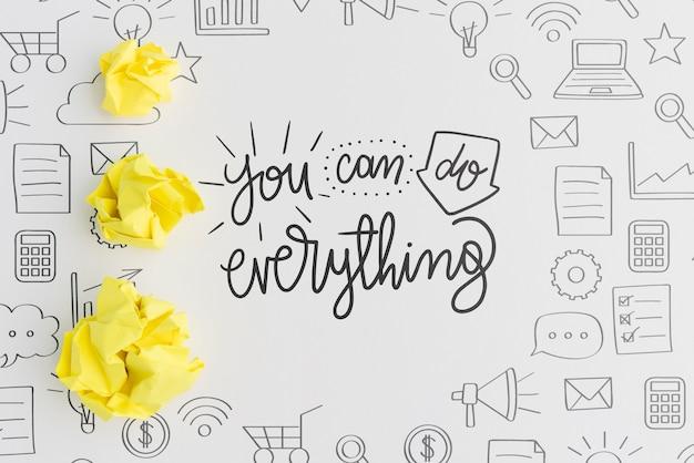 Możesz zrobić wszystko, co wycena, za pomocą doodli i zmiętego papieru