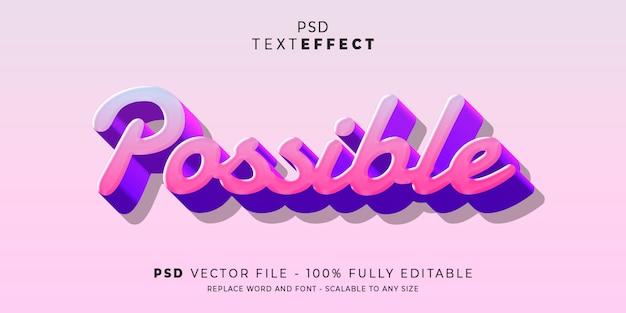 Możliwy edytowalny szablon w stylu tekstu i stylu czcionki