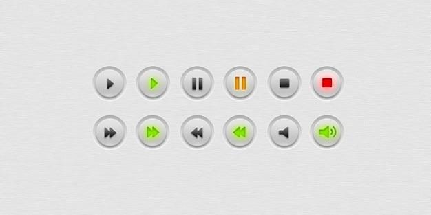 Multimedia audio przyciski wideo psd