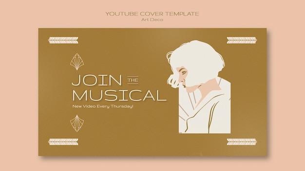 Muzyczna strona docelowa w stylu art deco