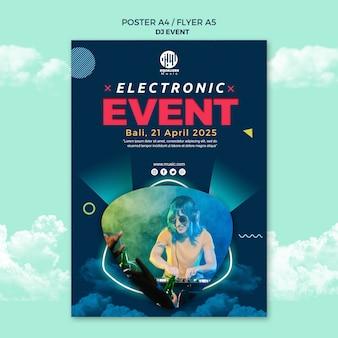 Muzyka party koncepcja szablon ulotki plakat