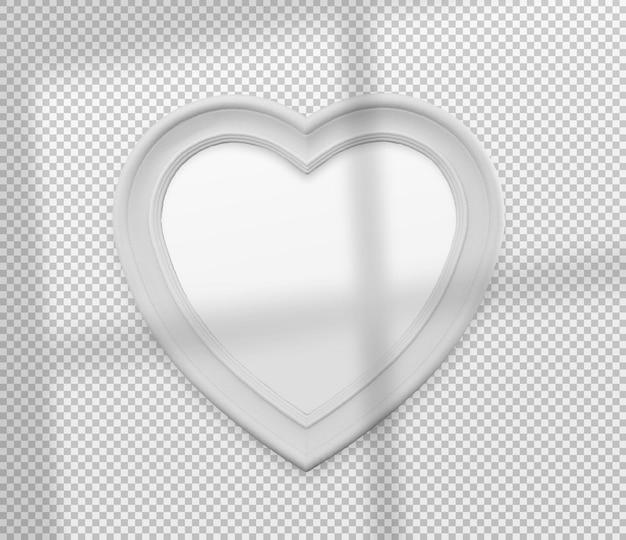 Na białym tle biała ramka serca