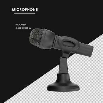Na Białym Tle Czarny Mikrofon Z Widokiem Z Lewej Strony Stojaka Premium Psd