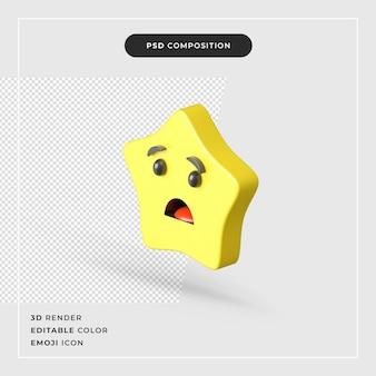 Na białym tle ikona emoji gwiazdy 3d