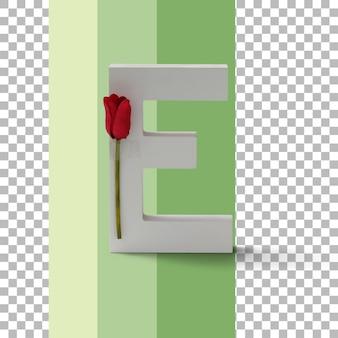 Na białym tle list z czerwoną różą