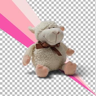 Na białym tle pluszowe owce