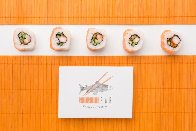 Na płasko leżało pyszne sushi