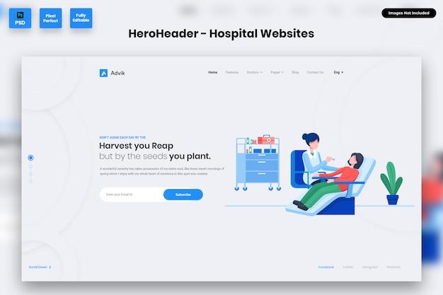 Nagłówek hero dla witryn szpitalnych