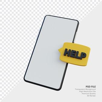 Najczęściej zadawane pytania ze smartfonem i bańką pomocy