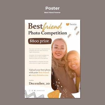 Najlepsi przyjaciele na zawsze szablon plakatu