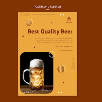 Najlepsza jakość szablonu plakatu piwa
