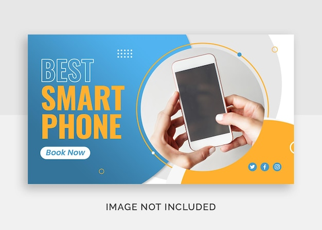Najlepsza miniatura youtube telefonu komórkowego lub szablon banera internetowego
