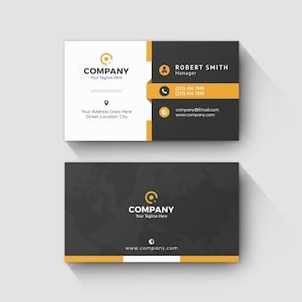 Najlepsza pomarańczowa nazwa kreatywnej karty firmowej