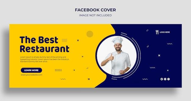 Najlepsza restauracja na facebooku, okładka osi czasu i szablon banera internetowego