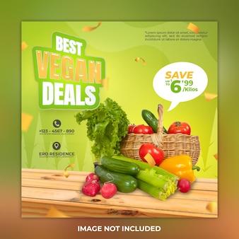 Najlepsze oferty warzywa szablon postu na instagram