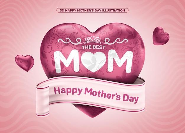 Najlepszy happy mothers day 3d do makijażu