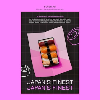 Najlepszy plakat restauracji sushi w japonii