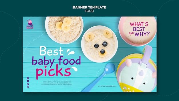 Najlepszy szablon banera z jedzeniem dla dzieci